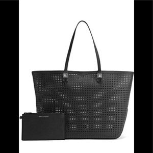 *NEW*Rebecca Minkoff Perforated black leather tote